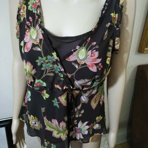 Bandolino, empire waist sequined tunic